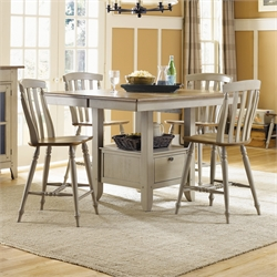 Al Fresco 5 Piece Counter Height Dining Set (A)