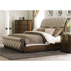 Cotswold Upholstered Sleigh Bed in Cinnamon