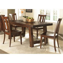 Tahoe Trestle Dining Set in Mahogany Stain