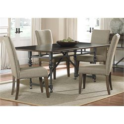 Ivy Park Dining Set in Weathered Honey and Silver Pewter