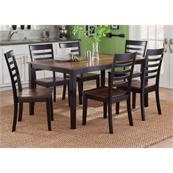 Cafe Dining Set in Black and Cherry
