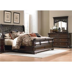 Arbor Place 3 Piece Sleigh Bedroom Set DM