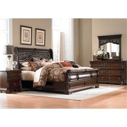 Arbor Place 4 Piece Sleigh Bedroom Set DMN