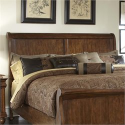Rustic Traditions Sleigh Headboard in Rustic Cherry