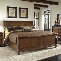 Rustic Traditions Sleigh Bed in Rustic Cherry