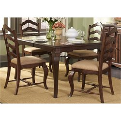 Woodland Creek Dining Set in Rust Russet with Heavy Distressing