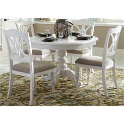 Liberty Furniture Summer House I 5 Piece Round Dining Set in White