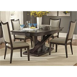 Southpark Pedestal Dining Set in Charcoal