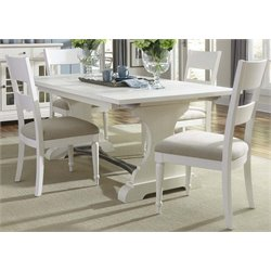 Harbor View II Trestle Dining Set in Linen (A)