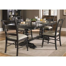 Whitney Trestle Dining Set in Black Cherry