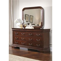Carriage Court 8 Drawer Dresser in Mahogany Stain