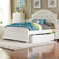 Stardust Trundle Bed in Iridescent White