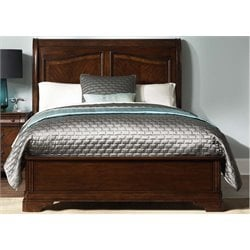 Alexandria Sleigh Bed in Autumn Brown