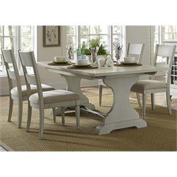 Harbor View III Trestle Dining Set in Dove Gray (A)