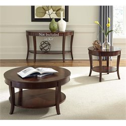 Liberty Furniture Bradshaw 3 Piece Coffee Table Set in Rich Cherry