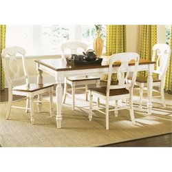 Low Country Dining Set in Linen Sand with Suntan Bronze (B)