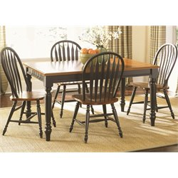 Low Country Dining Set in Anchor Black with Suntan Bronze (A)