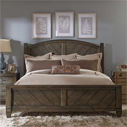 Modern Country Poster Bed in Harvest Brown