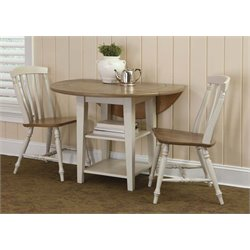 Al Fresco III Drop Leaf Dining Set in Driftwood and Sand