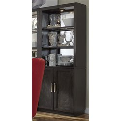 Liberty Furniture Platinum Bunching Shelf Curio Cabinet in Espresso