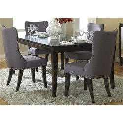 Platinum Dining Set in Satin Espresso (A)