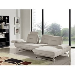 Diamond Sofa Contempo Right Facing Sectional in Sand