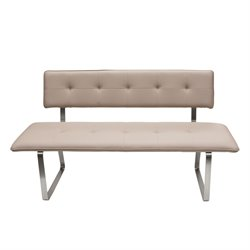 Diamond Sofa Maddox Tufted Living Room Bench in Taupe