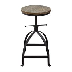 Diamond Sofa Davis Adjustable Bar Stool in Black (Set of 2)