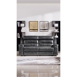 Diamond Sofa Duncan Leather Recliner in Gray