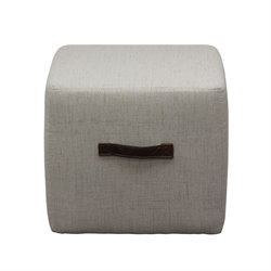 Diamond Sofa Ritz Cube Ottoman in Sand