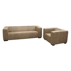 Diamond Sofa Westwood 2 Piece Sofa Set in Brown