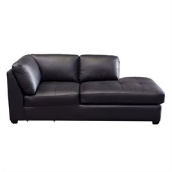 Diamond Sofa Urban Leather Chaise Lounge in Mocca