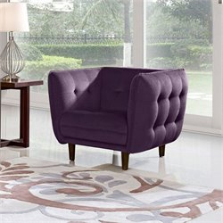 Diamond Sofa Venice Fabric Accent Chair in Purple
