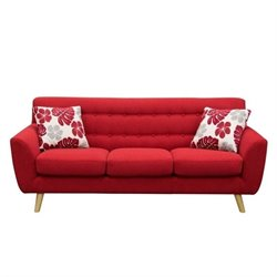 Diamond Sofa Scarlett Fabric Sofa in Rouge Red