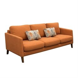 Diamond Sofa Keppel Fabric Sofa with Accent Pillow in Sunset