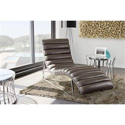 Bardot Chaise Lounge with Stainless Steel Frame