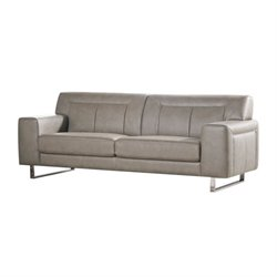 Diamond Sofa Vera Faux Leather Sofa with Metal Leg in Sandstone