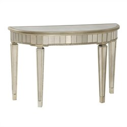 Bassett Mirror Borghese Mirrored Console Table in Silver