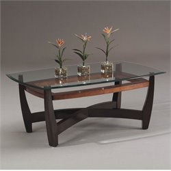 Bassett Mirror Elation Rectangular Cocktail Table in Cappucino