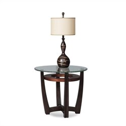 Bassett Mirror Elation Round End Table in Cappucino