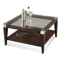 Bassett Mirror Dunhill Square Cocktail Table in Walnut