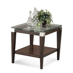 Bassett Mirror Dunhill Rectangle End Table in Walnut