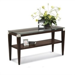 Bassett Mirror Dunhill Console Table in Walnut