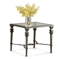 Bassett Mirror Lido Square End Table in Burnished Bronze