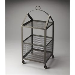 Butler Specialty Industrial Chic Square End Table in Gray