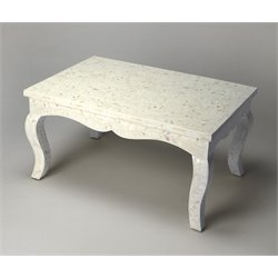 Butler Specialty Bone Inlay Coffee Table in White Bone Inlay