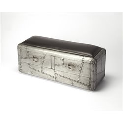 Butler Specialty Industrial Chic Storage Bench in Gray