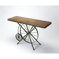 Butler Specialty Industrial Chic Console Table in Multi-Color