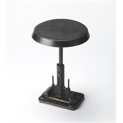 Butler Specialty Industrial Chic Round End Table in Black