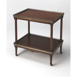 Butler Specialty Plantation Cherry End Table in Dark Brown